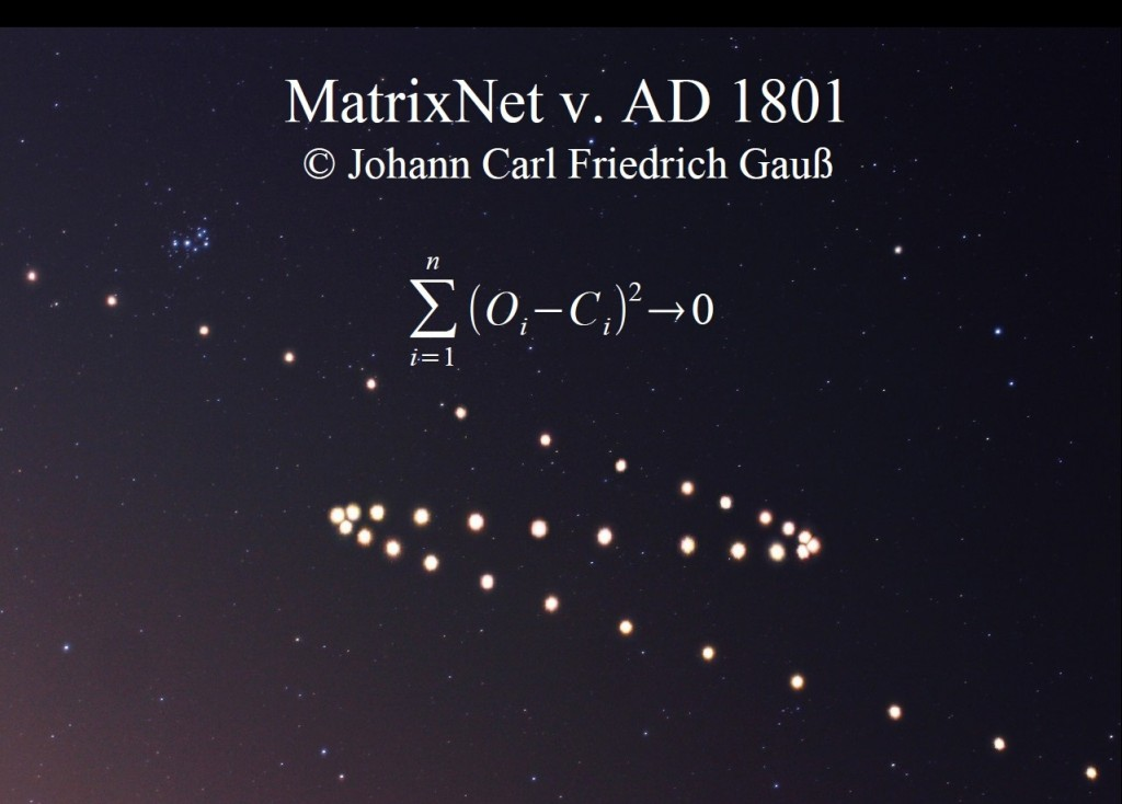 Метод Гаусса определения орбит с использованием МНК — прообраз MatrixNet