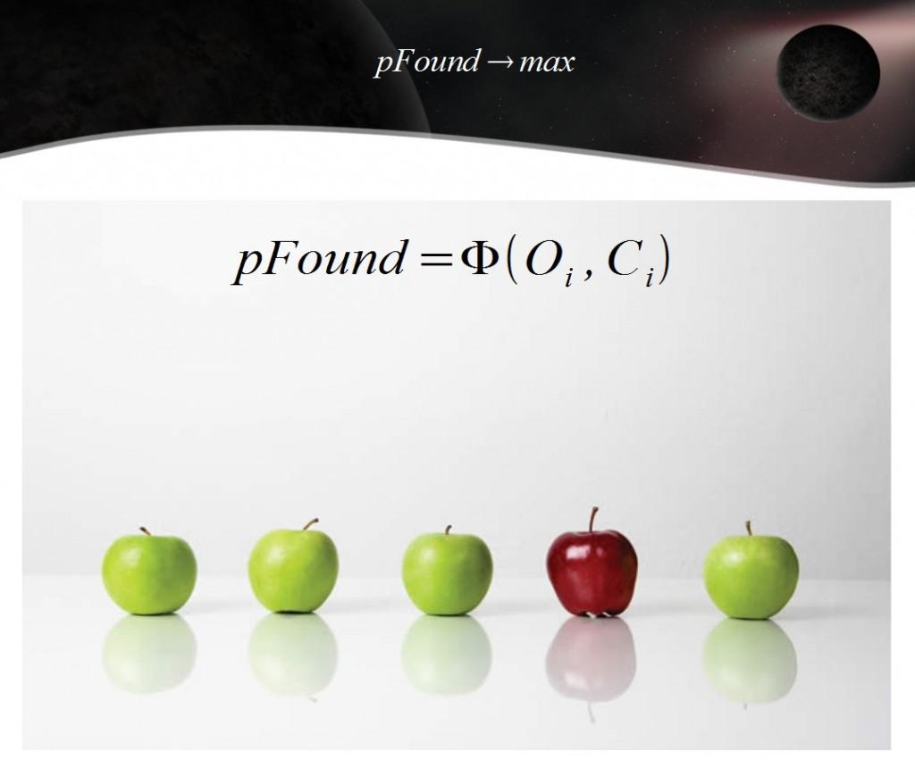 Сущность pFound: лучшие по оценкам асессоров документы - наверх.